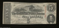 Confederate Notes:1863 Issues, T60 $5 1863. Even wear is found on this lightly handled ...
