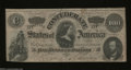Confederate Notes:1864 Issues, T65 $100 1864. Solid edges grace this Series II C-note.