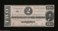Confederate Notes:1864 Issues, T70 $2 1864. A pre-printing paper crinkle is noticed on ...