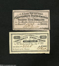 Confederate Notes:Group Lots, Two Different Confederate Bond Coupons of 1863 Part I. The ... (2notes)
