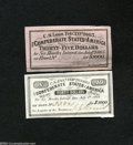 Confederate Notes:Group Lots, Two Different Confederate Bond Coupons of 1863 Part II. ... (2notes)