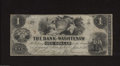 Obsoletes By State:Michigan, Ann Arbor, MI- Bank of Washtenaw $1 May 1, 1854