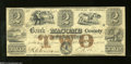 Obsoletes By State:Michigan, Mt. Clemens, MI- Bank of Macomb County $2 Apr. 1, 1858