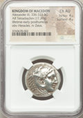 Ancients: MACEDONIAN KINGDOM. Alexander III the Great (336-323 BC). AR tetradrachm (28mm, 17.20 gm, 9h). NGC Choice AU 4...