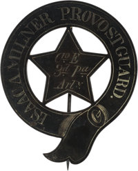 [Jefferson Davis]: Isaac A. Milner Fortress Monroe Silver Provost Guard Badge