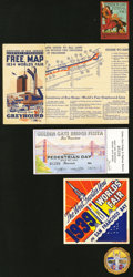 Expositions and More. San Francisco Admission Day Festival 1910 Decal; Century of Progress World'