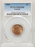 (2)1909 1C MS65 Red and Brown PCGS. PCGS Population: (283/46). NGC Census: (247/53). CDN: $50 Whsle. Bid for NGC/PCGS MS...