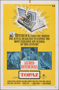 """Topaz & Other Lot (Universal, 1969). Folded, Overall: Very Fine-. One Sheets (3) (27"""" X 41""""). Hitchcock..."""