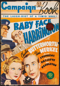 "Baby Face Harrington (MGM, 1935). Folded, Very Good+. Uncut Pressbook (Multiple Pages, 14"" X 19.5""). Comedy..."