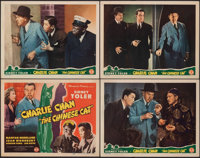 """The Chinese Cat (Monogram, 1944). Very Fine-. Title Lobby Card & Lobby Cards (3) (11"""" X 14""""). Mystery..."""