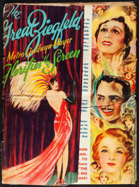 """The Great Ziegfeld (MGM, 1936). Folded, Very Good+. Uncut Pressbook (Multiple Pages, 14.5"""" X 20"""") & Progra..."""