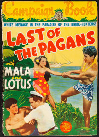 """Last of the Pagans (MGM, 1935). Folded, Very Good+. Uncut Pressbook (Multiple Pages, 14"""" X 19.75""""). Adventure..."""