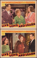 """Movie Posters:Comedy, Live, Love and Learn (MGM, 1937). Very Fine. Lobby Cards (2) (11"""" X 14""""). Comedy.. ... (Total: 2 Items)"""