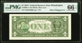 Third Printing on Back Offset Error Fr. 3001-C $1 2013 Federal Reserve Note. PMG Gem Uncirculated 66 EPQ