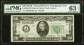 Fr. 2058-J $20 1934D Wide Federal Reserve Note. PMG Choice Uncirculated 63 EPQ