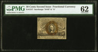 Fr. 1317 50¢ Second Issue PMG Uncirculated 62