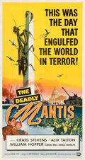 """Movie Posters:Science Fiction, The Deadly Mantis (Universal International, 1957). Very Fine- on Linen. Three Sheet (41.5"""" X 79.5"""").. ..."""