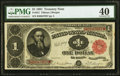 Fr. 351 $1 1891 Treasury Note PMG Extremely Fine 40