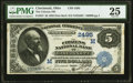 Cincinnati, OH - $5 1882 Date Back Fr. 537 The Citizens National Bank Ch. # (M)2495 PMG Very Fine 25