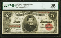 Fr. 364 $5 1891 Treasury Note PMG Very Fine 25
