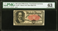 Fr. 1381 50¢ Fifth Issue PMG Choice Uncirculated 63