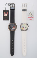 Clocks & Mechanical, Yoshitomo Nara X Citizen Watch Co.. Lonesome Puppy and Hell Cat, watches, set of two, c. 2000. Wrist watches with le... (Total: 2 Items)