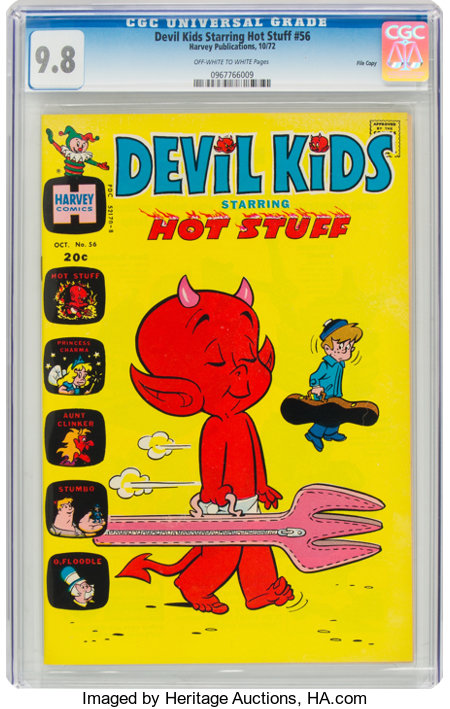 Devil Kids Starring Hot Stuff #56 File Copy (Harvey, 1972) CGC NM/MT 9.8 Off-white to white pages....