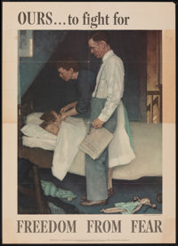 World War II Propaganda by Norman Rockwell (U.S. Government Printing Office, 1943). Folded, Fine/Very Fine. OWI Poster N...