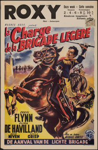 "The Charge of the Light Brigade (Warner Bros., R-1950s). Folded, Very Fine-. Belgian (14"" X 21.5"") Wik Artwork..."