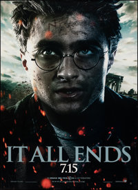 """Harry Potter and the Deathly Hollows: Part 2 (Warner Bros., 2011). Rolled, Very Fine. Bus Shelters (3) (47.5"""" X 68..."""