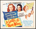 """Movie Posters:Drama, A Letter to Three Wives (20th Century Fox, 1949). Very Fine-. Title Lobby Card (11"""" X 14""""). Drama.. ..."""