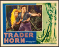 """Movie Posters:Adventure, Trader Horn (MGM, 1931). Very Fine. Lobby Card (11"""" X 14""""). Adventure.. ..."""