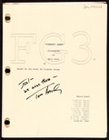 """Movie Posters:Comedy, Forrest Gump by Eric Roth (Paramount, 1993). Very Fine+. Autographed Third Revised Script (275 Pages, 8.75"""" X 11.5"""").. ..."""