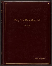 Steve McQueen Owned Script from Baby the Rain Must Fall by Horton Foote (Columbia, 1963). Very Fine+. Leather Bound Scri...