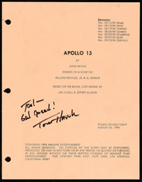 """Apollo 13 by John Sayles (Universal, 1994). Very Fine+. Autographed Original Fourth Revised Script (145 Pages, 8.5""""..."""