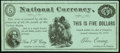 Anti-National Bank Notes/Pro-United States Notes Greenback Party Political Note $5 Jan. 20, 1879 Very Fine