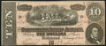 Confederate Notes:1864 Issues, General Railroad Ticket Office Advertising Note T68 $10 1864 Choice About Uncirculated.. ...