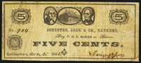 Hollidaysburg, PA- Johnston, Jack & Co. 5¢ Dec. 25, 1862 Fine