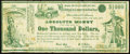 National Greenback-Labor-Reform Absolute Money $1,000 ND (1880) Political Note Fine