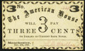 Obsoletes By State:New Hampshire, Manchester, (NH)- American House 3¢ Dec. 4, 1863 About Uncirculated.. ...