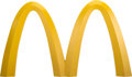Memorabilia:Miscellaneous, McDonald's Golden Arches Sign from Early Drive-Thru (1975)....