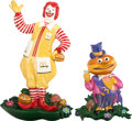 Memorabilia:Miscellaneous, McDonald's Ronald McDonald and Mayor McCheese Wall Plaques (1975).... (Total: 2 Items)