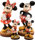 Animation Art:Maquette, Mickey and Minnie Limited Edition Wooden Figurines by Anri Group of 4 (Walt Disney, c. 1990s).... (Total: 4 Original Art)
