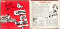 Firehouse Five Plus Two Goes South Signed Album with 2 Publicity Photos and Ward Kimball Poster (Walt Disney/Good Time...
