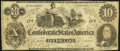 Confederate Notes:1862 Issues, CT46/344A $10 1862 Counterfeit Very Fine.. ...
