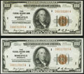 Fr. 1890-I $100 1929 Federal Reserve Bank Notes. Two Examples. Very Fine-Extremely Fine; About Uncirculated. ... (Total:...