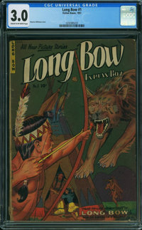 Long Bow #1 (Fiction House, 1951) CGC GD/VG 3.0 Cream to off-white pages