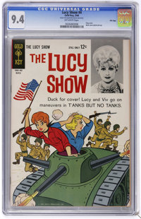 The Lucy Show #4 - File Copy (Gold Key, 1964) CGC NM 9.4 Off-white pages