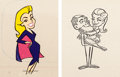 Animation Art:Production Cel, Bewitched Samantha Production Cel Group of 2 (Hanna-Barbera, 1964).... (Total: 2 )