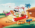 "Animation Art:Limited Edition Cel, ""Meet The Flintstones"" Limited Edition Cel Signed by Bill Hanna and Joe Barbera AP #5/10 (Hanna-Barbera, c. 1990s)..."